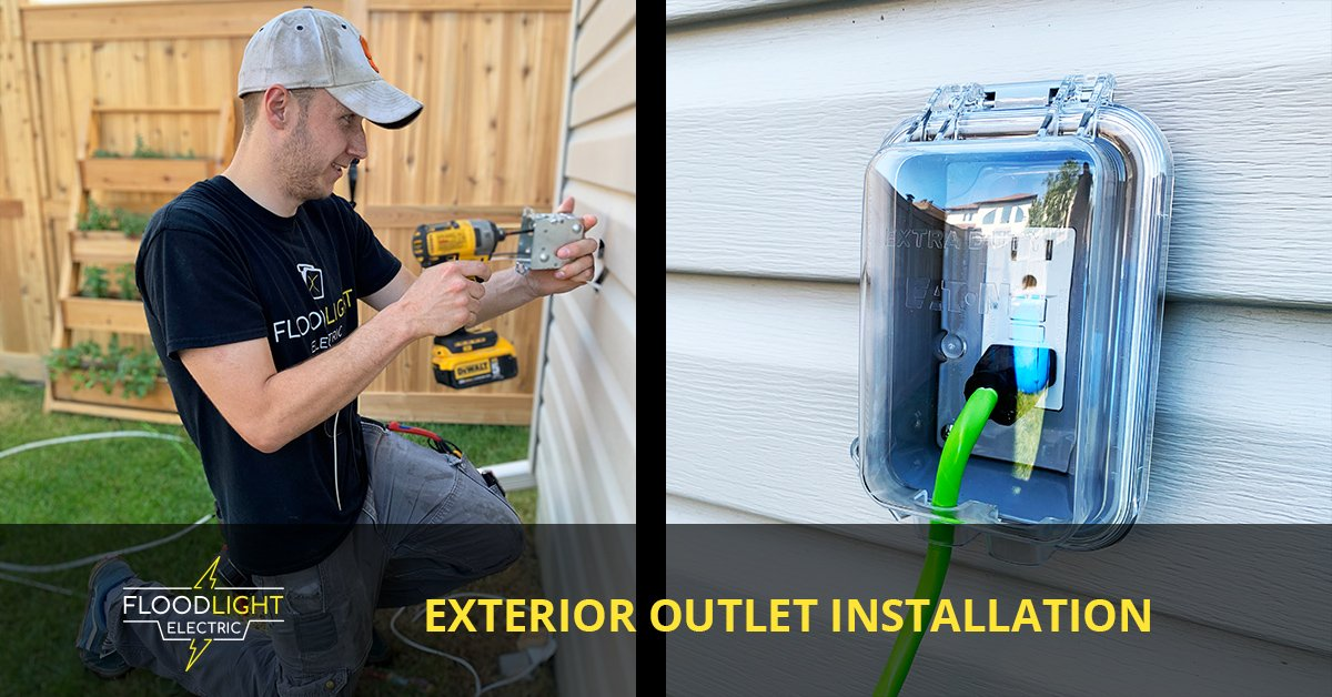 installing Exterior Outlet